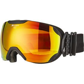 Alpina Pheos S QMM SPH Goggle S2 red spherical/black matt